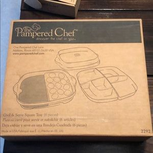 Pampered Chef Cool & Serve Square Tray
